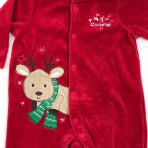 One Pieces - 1st Christmas Footed PJs, 3 Months